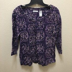 liz & co. Tops - Liz&co. Large Purple 3/4 Sleeve Blouse/Top